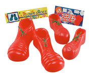 Clown Shoes. PVC Red. Adult