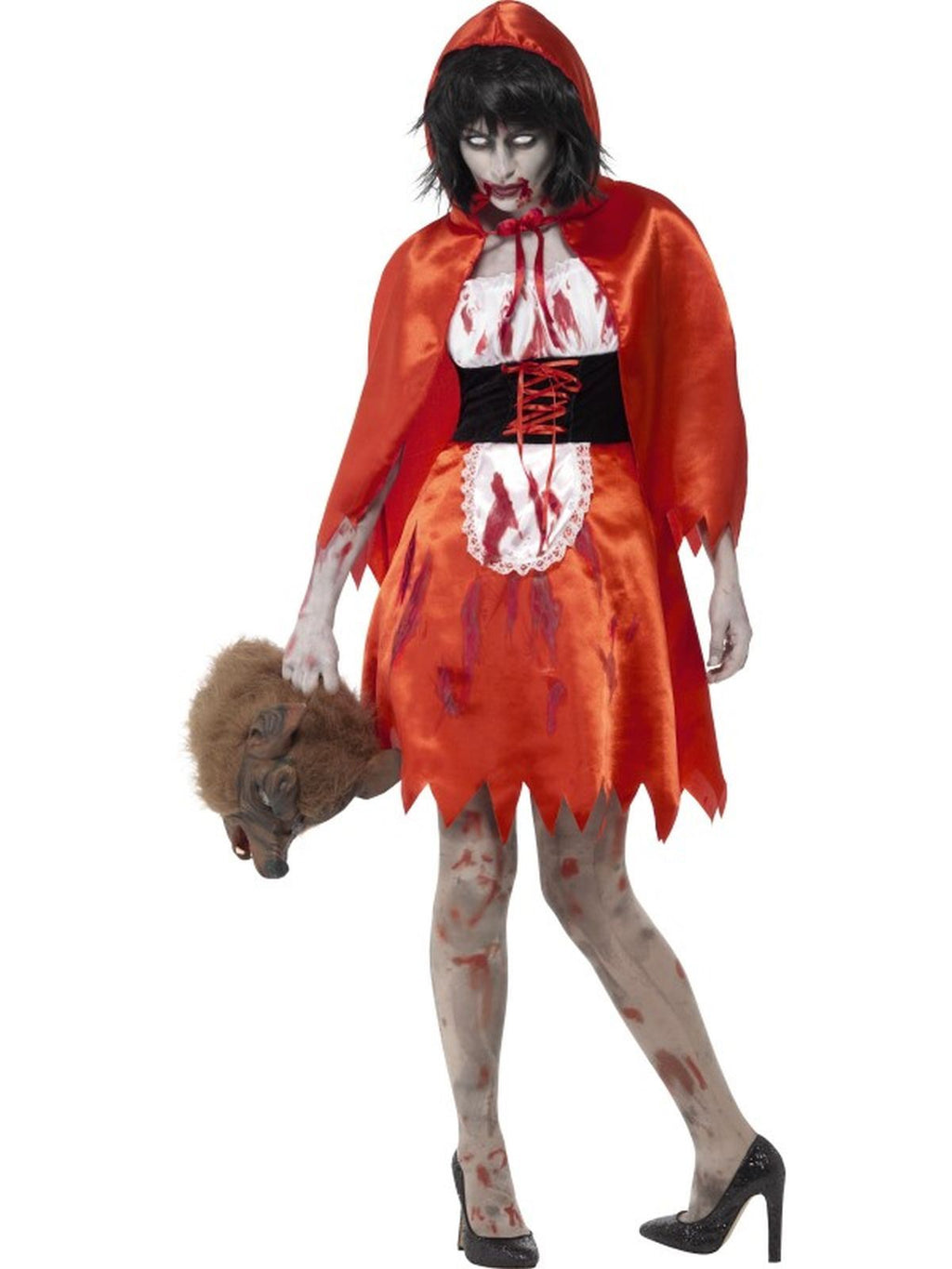 Women's Zombie Little Miss Hood Fancy Dress Costume