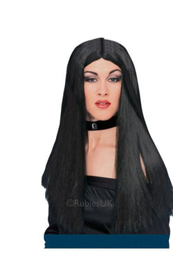 24inch Black Witch Fancy Dress Wig