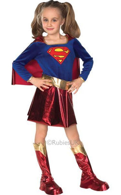 Childs Supergirl Fancy Dress Costume