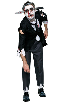 Mens Halloween Horror Fancy Dress Costume Outfit Bloody Butler
