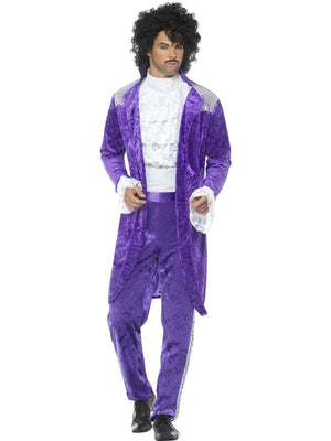 80's Purple Musician Men's Fancy Dress Costume