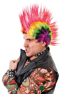 Mohican Multi-Coloured Wig