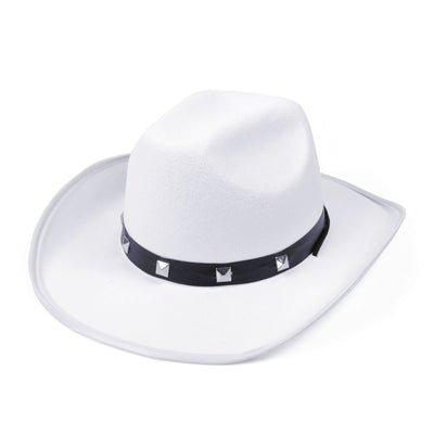 White Felt Cowboy Studded Hat