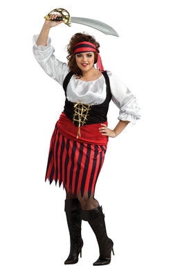 Pirate Women's Fancy Dress Costume Plus Size