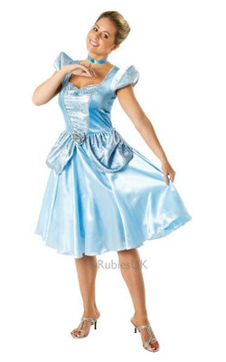 Cinderella Licensed Disney Ladies Princess Costume