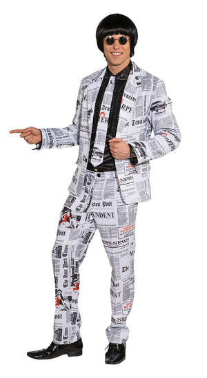 Newspaper Suit Costume