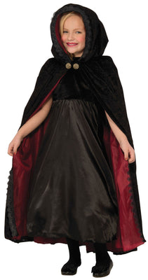 Gothic Vampiress Cape Kids Fancy Dress Costume
