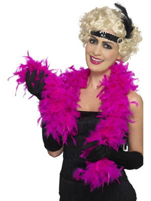 Bargain Feather Boa Shocking Pink