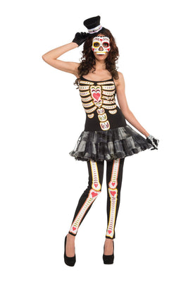 Day Of The Dead Tutu Dress Women's Costume
