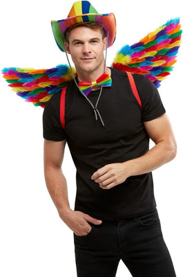 Rainbow Feather Wings