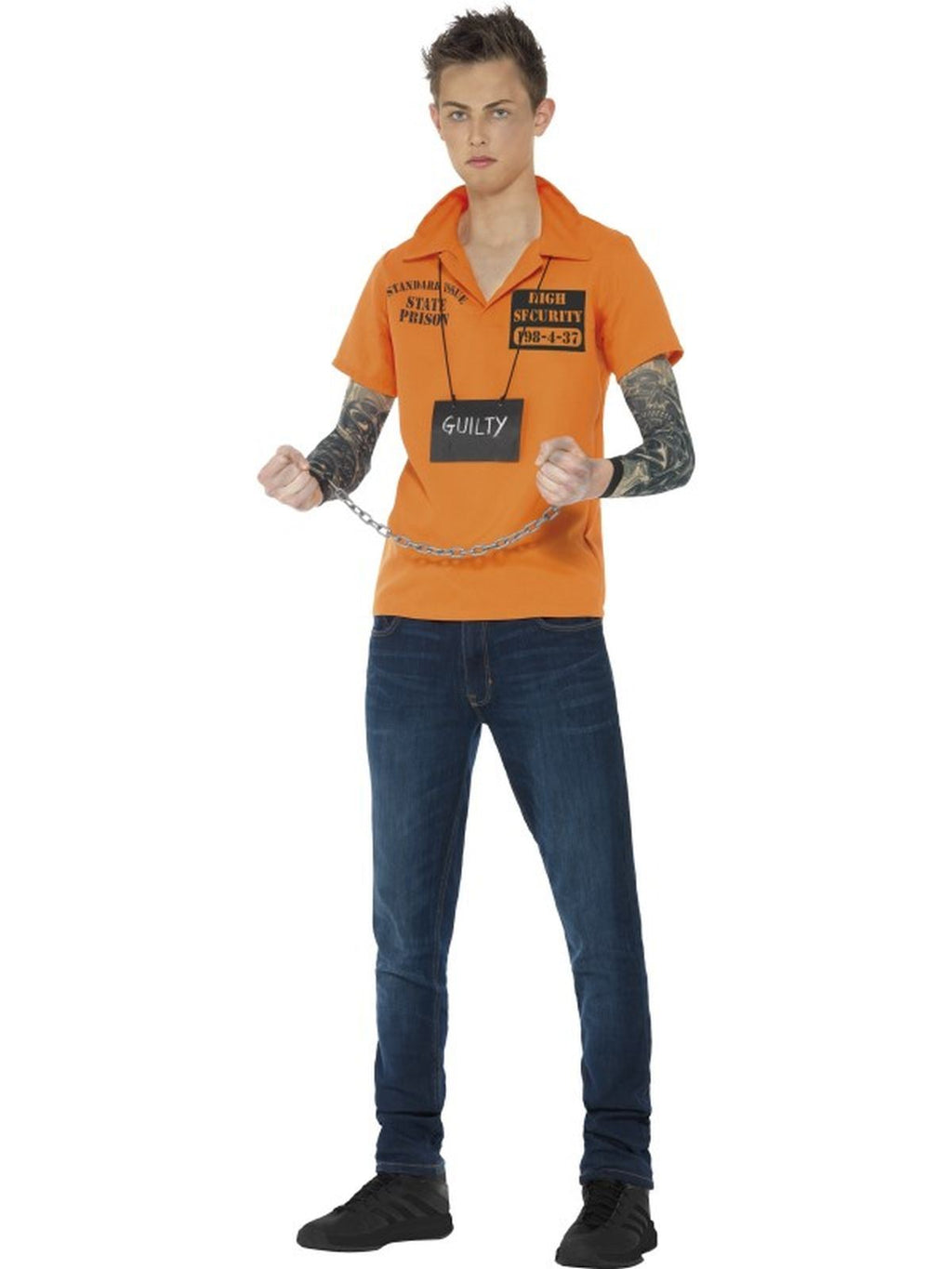 Convict Fancy Dress Instant Kit Teen