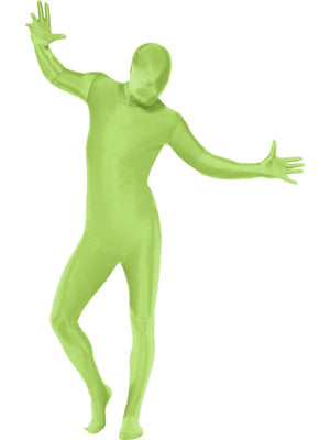 Green Second Skin Suit Fancy Dress Costume