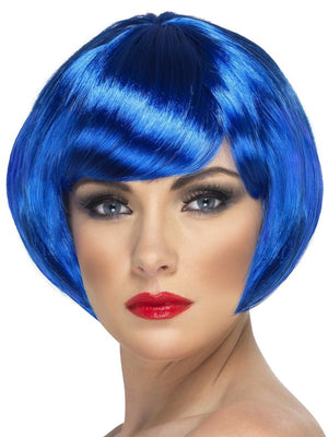 Babe Fancy Dress Wig Blue