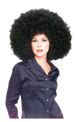 Super Afro Fancy Dress Wig Black