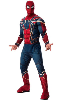 Iron Spider Mens Avengers Marvel DC Comics Fancy Dress Costume Outfit