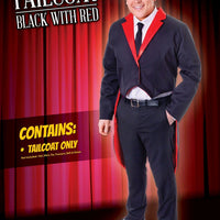 Mens Tailcoat Black/Red