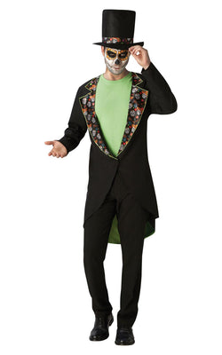 Mens Halloween Day Of The Dead Fancy Dress Costume Outfit