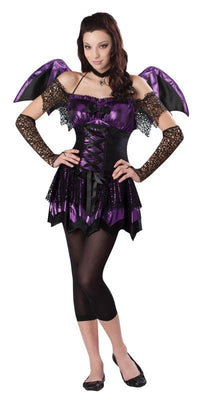 Girls Teen  Battitute Bat  Fancy Dress Costume