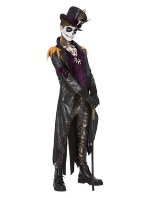 Voodoo Witch Doctor Costume, Black & Purple