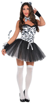 Ladies Zebra Fancy Dress Costume