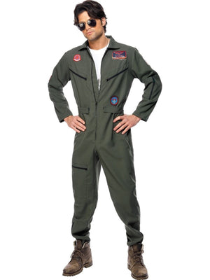 Top Gun Jumpsuit Fancy Dress Costume