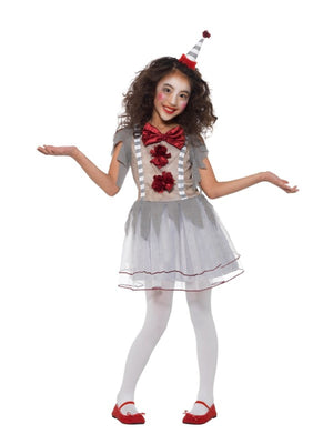 Vintage Clown Girl's Fancy Dress Costume