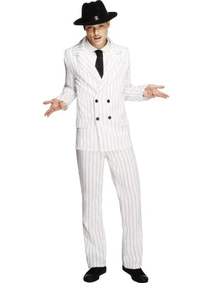 Gangster Suit Fancy Dress Costume White