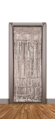 Doorway Curtain Silver Tinsel (240x94cm)