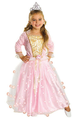 Girls Rose Princess Fancy Dress Costume