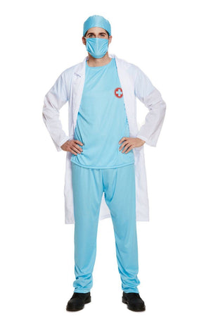Doctor's Scrub Men's Fancy Dress Costume