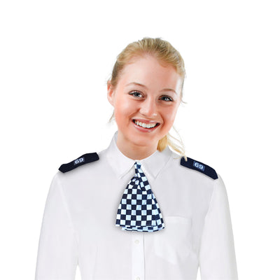 WPC Scarf + Epaulettes, Black and White