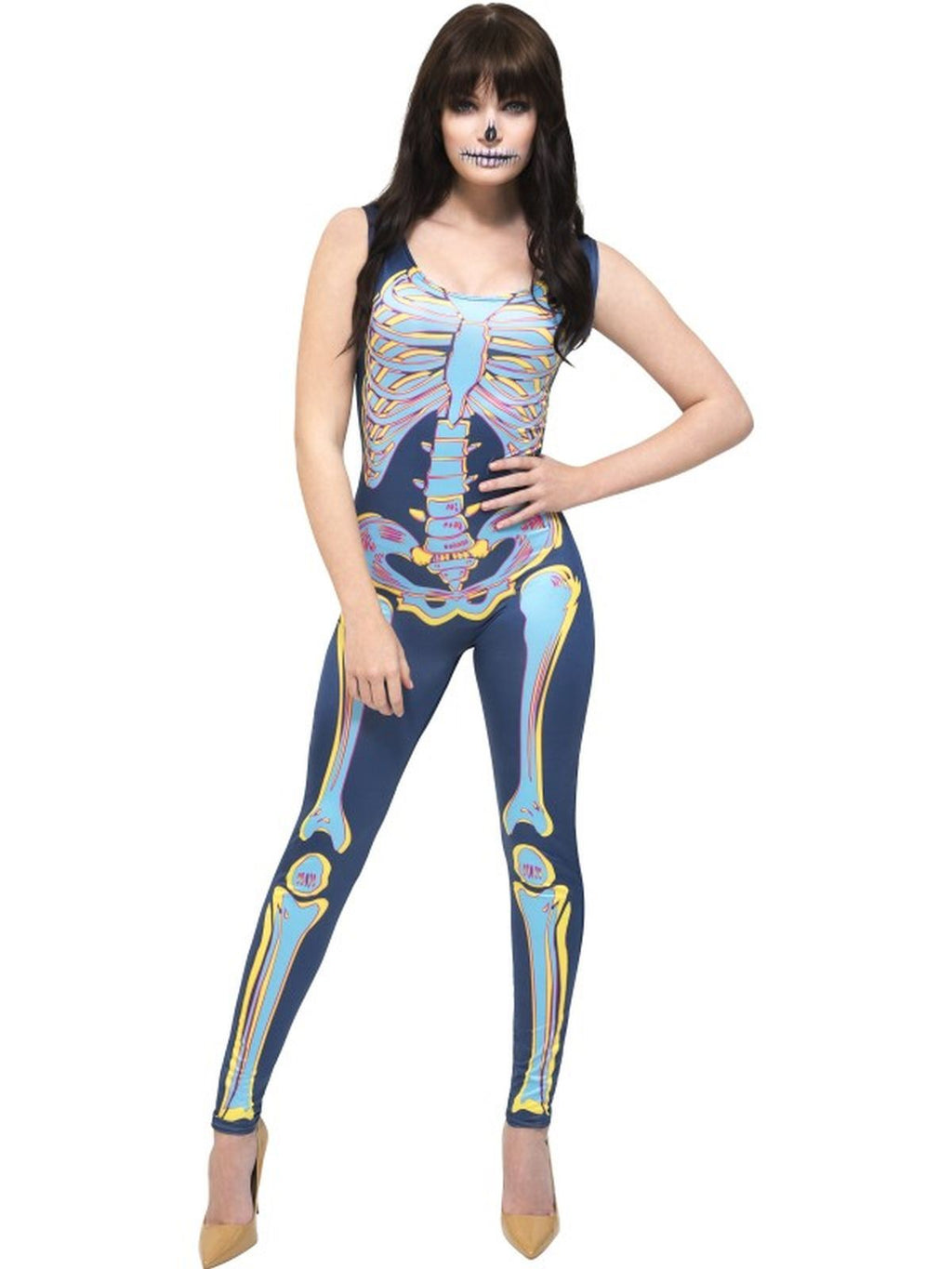 Fever Sexy Skeleton Women's Fancy Dress Costume