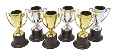 Winner Trophies with Stickers (Pack of 6)