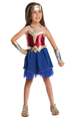 Wonder Woman Justice League Girl's Fancy Dress Costume