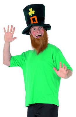 Leprechaun Fancy Dress Hat and Beard