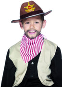 Childrens Brown Cowboy Fancy Dress Hat Brown