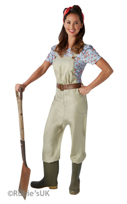 Women's Land Girl Fancy Dress Costume
