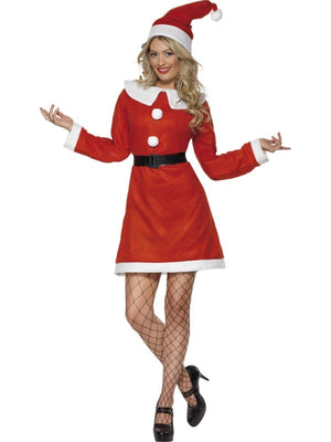 Bargain Miss Santa Fancy Dress Costume