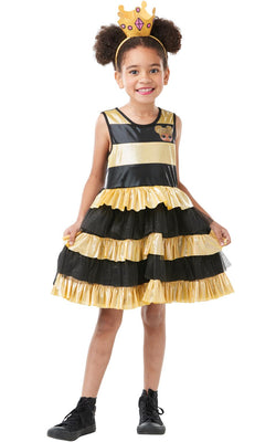 Lol Doll Queen Bee Girls Fancy Dress Costume Outfit