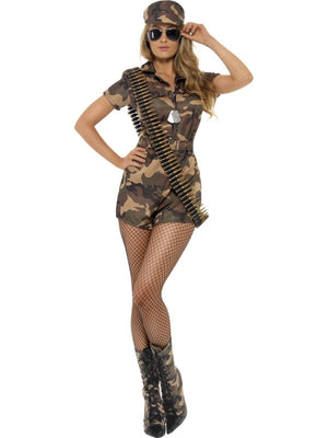 Sexy Army Lady Fancy Dress Costume