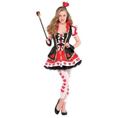 Teen Queen Of Hearts Fancy Dress Costume
