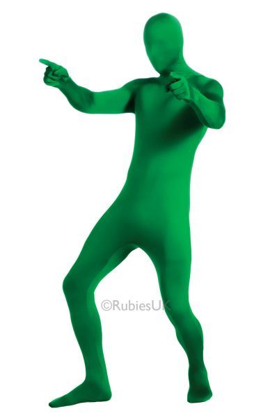 2nd Skin Green Jumpsuit Fancy Dress Costume