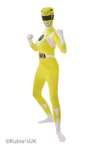 Women's Yellow Ranger 2nd Skin Fancy Dress Costume