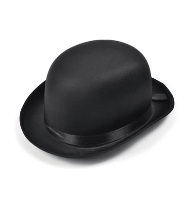 Bowler Hat. Black Satin Finish