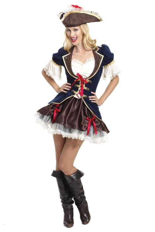 Ladies Captain Buccaneer Fancy Dress Costume