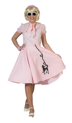 Women's 50s Poodle Dress Pink