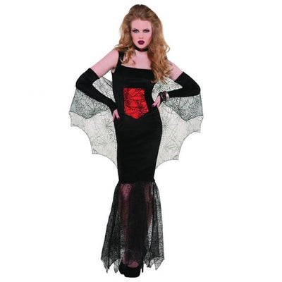 Black Widow Seductress Fancy Dress Costume