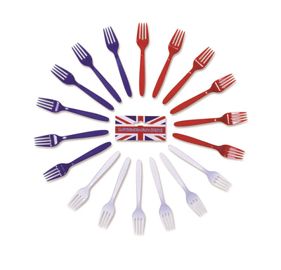 Red/White/Blue Forks
