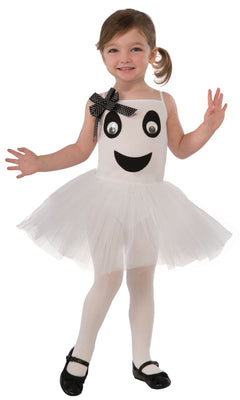 Bootiful Ballerina (Ghost) Toddler Girl's Fancy Dress Costume